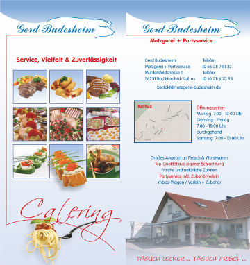 Partyservice Flyer